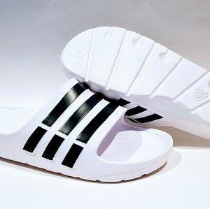 d470e494f adidas Shoes - Adidas Duramo Slides Sandals Flip Flop White Black